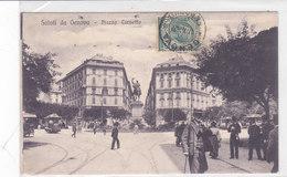 CARD GENOVA PIAZZA CORVETTO ANIMATA TRAM PRIMO PIANO CARABINIERI REALI  -FP-V-2-0882- 28106 - Genova