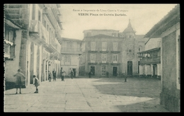 VERIN -  Plaza De Garcia Balbon - Bazar E Imprenta De Lino Vazquez( Ed.Fotoitipya De Hauser Y Manet) Carte Postale - Orense