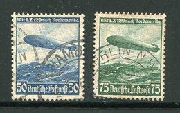 ALLEMAGNE Empire- P.A Y&T N°55 Et 56- Oblitérés (Zeppelins) - Poste Aérienne