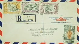 O) 1953 NIGERIA, QUEEN ELIZABETH-OLOKUN HEAD IFE-ARCHEOLOGY SCOTT A18 6p -MINING TIN 2p-JABBA BRIDGE OVER NIGER 3p-LOGGI - Nigeria (1961-...)
