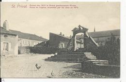 Saint Privas    Eglise Incendiée En 1870 - Francia