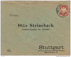 28555. Carta Oficial WEISSENHOF (Bayern) 1902 A Stuttgart - Bavaria