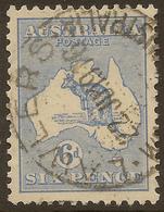 AUSTRALIA 1913 6d Roo SG 9 U #ALK254 - 1913-48 Kangaroos