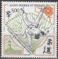 Saint-Pierre Et Miquelon 1989 Yvert 498 Neuf ** Cote (2015) 2.60 Euro 25 Ans De Judo - St.Pierre Et Miquelon