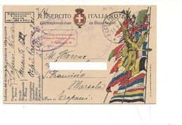 2096) 1918 Posta Militare 29 Ospede Da Campo 201 Franchigia - Storia Postale