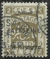 PALESTINE PALESTINA 1922 OVERPRINTED OF 1918 SOPRASTAMPATO 2pi USATO USED OBLITERE' - Palestina