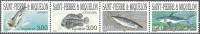 Saint-Pierre & Miquelon 1997 Yvert 646 - 649 Setenant Neuf ** Cote (2015) 8.40 Euro Poissons - St.Pierre Et Miquelon