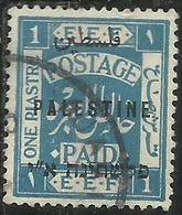 PALESTINE PALESTINA 1921 OVERPRINTED OF 1918 SOPRASTAMPATO 1pi USATO USED OBLITERE' - Palestina