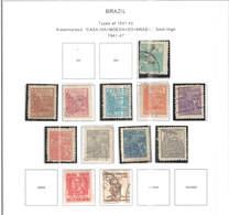 Brasile PO 1941/47 Tipo 1941/42  Scott.556/565+567+568+ See Scan On Scott.Page - Brazil