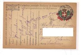 2115) 1917 Franchigia 1^ WW Posta Militare Intendenza Zona Gorizia - Storia Postale