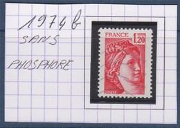 Sabine De Gandon N°1974b Rouge 1f20 Oblitéré Sans Phosphore - 1977-81 Sabine De Gandon