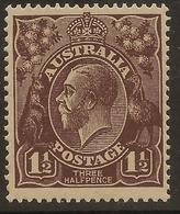 AUSTRALIA 1918 1 1/2d KGV SG 58 UNHM #ALK256 - 1913-36 George V: Heads