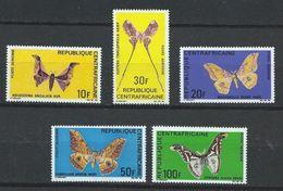 Centrafrique YT PA 69-73 XX / MNH Animal Papillon Butterfly Wildlife - República Centroafricana