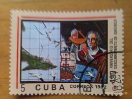 Sello 490 Aniversario Descubrimiento De América. Cristóbal Colón. República De Cuba. 5 Ct. 1982. Comunista. Circulado - Kuba