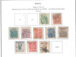 Brasile PO 1942/47 Tipi 1941/42  Scott.543/552 See Scan On Scott.Page - Brazil