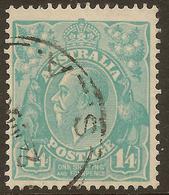 AUSTRALIA 1926 1/4 KGV SG 104 U #ALK266 - 1913-36 George V : Heads