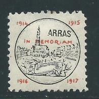 VIGNETTE PATRIOTIQUE DELANDRE - ARRAS - Propagande  WWI WW1 Cinderella Poster Stamp 1914 1918 - Erinnofilie