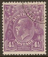 AUSTRALIA 1930 4 1/2d KGV SG 120a U #ALK265 - 1913-36 George V : Heads
