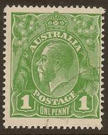 AUSTRALIA 1924 1d KGV SG 82 U #ALK224 - 1913-36 George V: Heads