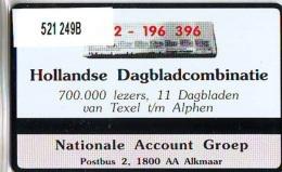 Telefoonkaart  LANDIS&GYR NEDERLAND * RCZ.521   249b * Hollandse Dagbladcombinatie * TK * ONGEBRUIKT * MINT - Privé