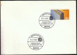 Germany Munich 1982 / Tourism / Caravan, Boot - Vacaciones & Turismo
