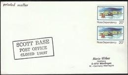 Ross Dependency / Antarctic / Scott Base Post Office Closed 1/10/87 - Polarmarken