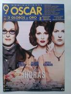 Folleto De Mano. Película Las Horas. Meryl Streep. Julianne Moore. Nicole Kidman. Nuevo. Reproducción Actual Autorizada - Merchandising