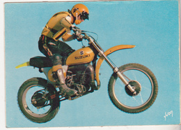 Rare Cpsm Moto De Moto Cross Années 70 Suzuki 500 - Sport Moto