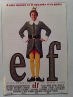 Folleto De Mano. Película Elf. Will Ferrell. James Caan. John Favreau. Nuevo. Reproducción Actual Autorizada - Merchandising