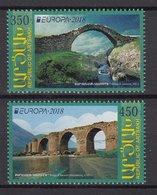 ARMENIA KARABAKH 2018 EUROPA CEPT BRIDGES Set 2 Stamps MNH - 2018