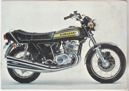 Rare Cpsm Moto Années 70 Moto Kawasaki - Moto