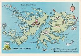 FALKLANDS WAR MAP MAPE MAPA. BOUNDBOOKS.-TBE-BLEUP - Falklandeilanden