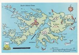FALKLANDS WAR MAP MAPE MAPA. BOUNDBOOKS.-TBE-BLEUP - Falkland
