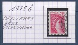 Sabine De Gandon N°1978b Rose Carminé 2f10 Oblitéré  Sans Phosphore - 1977-81 Sabine De Gandon