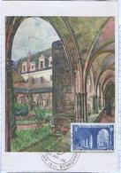Carte Maximum SAINT WANDRILLE L'abbaye ( De 1949) - Cartoline Maximum