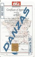 CARTE-PUCE-PRIVEE-PUBLIC- 50U-EN1303-GEM B-10/94-DANZAS- ISO 9002-UTILISE-TBE LUXE - France