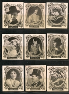CANARIAS - OLD ACTORS & ACTRESSES - Cigarrillos LA FAVORITA - Las Palmas - Lot Of 9 Cards - Autres Marques