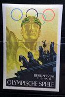 ERINNOFILI VIGNETTE  CINDERELLA - BERLIN 1936 OLYMPISCHE SPIELE - Cinderellas