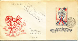 Czechoslovakia FDC 21-3-1966 Minisheet Opera Of Smetana Sent To USA - FDC