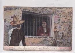 INDIO Y SU NOVIA. J C S. MEXICO. CIRCULEE TO USA.-BLEUP - Mexico