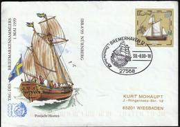 Germany Bremerhaven 2000 / Sailing Ship / Postjacht Hiorten / Postal Stationery - Barcos
