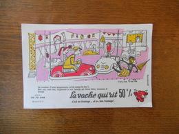 LA VACHE QUI RIT 50% SERIE LES FORAINS BUVARD N° 3 CORINE BAILLE - Buvards, Protège-cahiers Illustrés