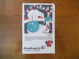 LA VACHE QUI RIT 50% SERIE LE CIRQUE BUVARD N° 4 ALAIN SAINT OGAN - Buvards, Protège-cahiers Illustrés