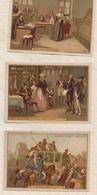 8AK938 CHROMO Lot De 3 CHOCOLAY LOUIT HISTORIQUE REVOLUTION LOUIS XVI MARIE ANTOINETTE 2 Scans - Louit