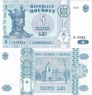 Moldova - 5 Lei 2009 UNC Ukr-OP - Moldova