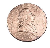 1/2 Penny - Angleterre - Token - Cuivre - 1795 - TB - - 1662-1816 : Acuñaciones Antiguas Fin XVII° - Inicio XIX° S.