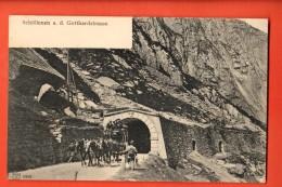 HCA-12 Gotthard. Postabfahrt, Schöllenen An Der Gotthardstrasse.  Nicht Gelaufen - UR Uri