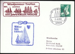 Germany Kiel 1982 / Sailing / Kiel Week / Kieler Woche / Ship / Windjammer Treffen / Udler Von Lubeck - Vela