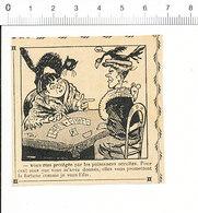 2 Scans 1905 Humour Cartomancienne Chat Noir Corbeau Sur Chapeau / Militaria Soldat Consigné 51C15 - Vecchi Documenti