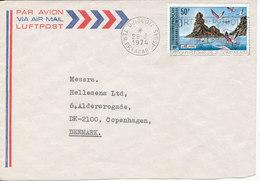 Afars - Issas Air Mail Cover Sent To Denmark Djibouti 26-3-1974 Single Franked Nice Postmark - Afar- Und Issa-Territorium (1967-1977)